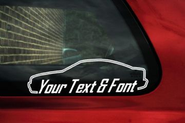 2x Volvo C70 Coupe T5 (1997-2004) Your Text custom surround car Stickers